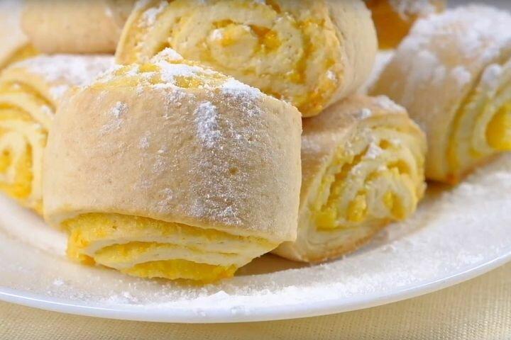 Нежное печенье с апельсиновой начинкой
