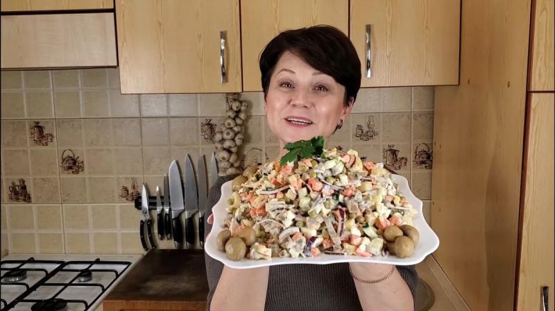 """Салат """"Крестьянский"""". Быстро. Просто. Вкусно."""
