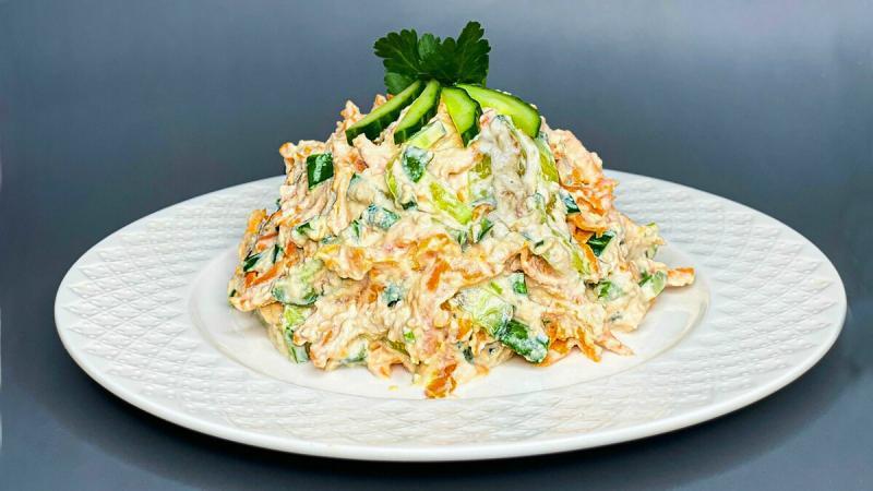Салат за 5 минут: самый быстрый салат в моей жизни.