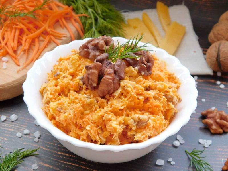 Салаты из моркови - 9 вкусных рецептов