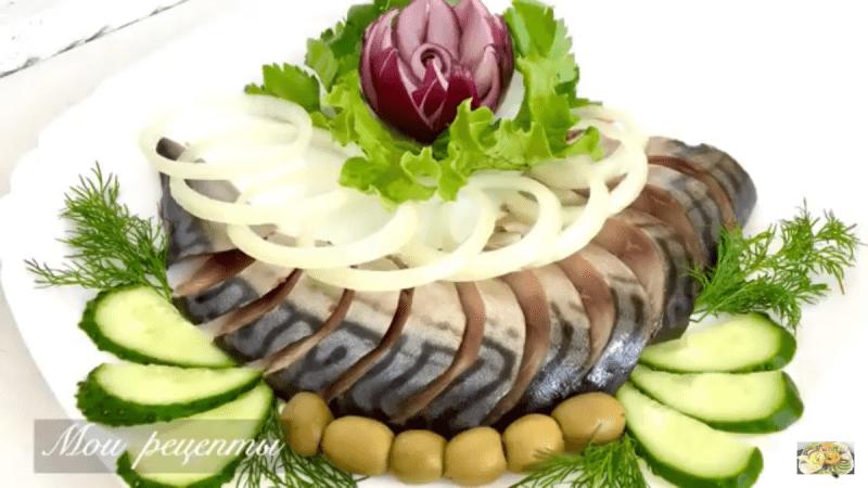 Скумбрия малосольная, простой рецепт сухого посола