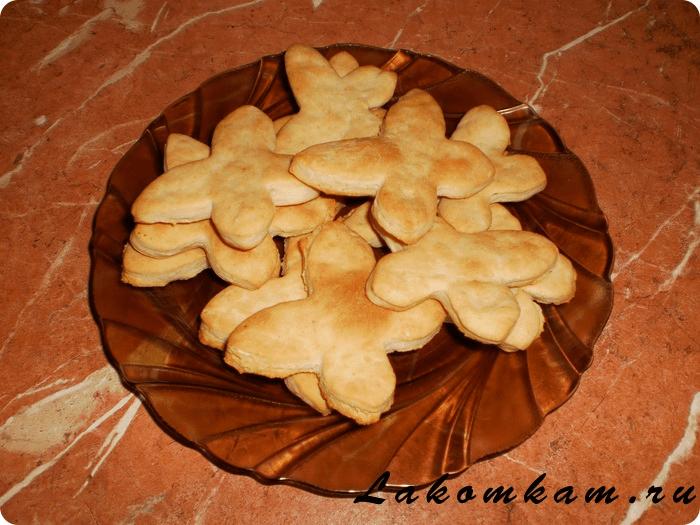 Солёное печенье на огуречном рассоле