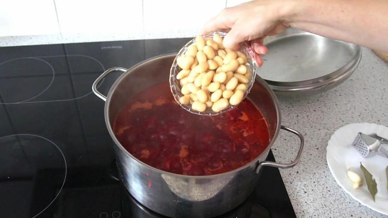 Свекольник с белой фасолью. Пошаговый рецепт