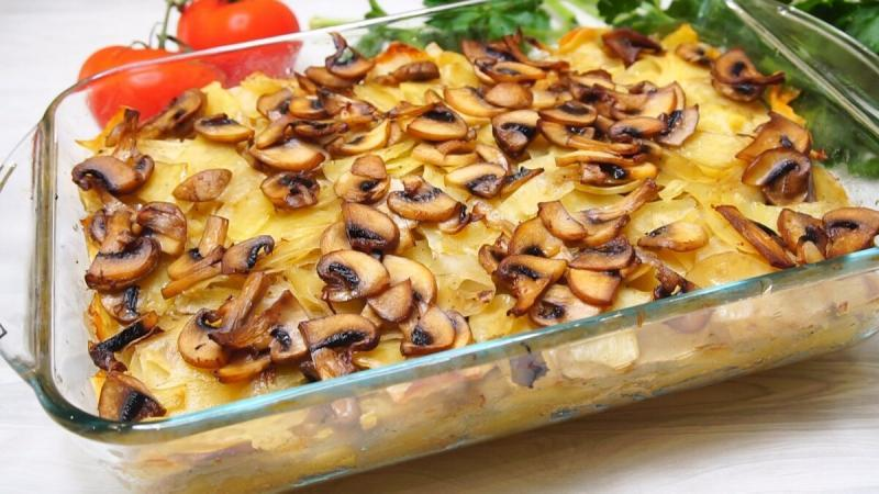 Томленный картофель в духовке со сливочным вкусом