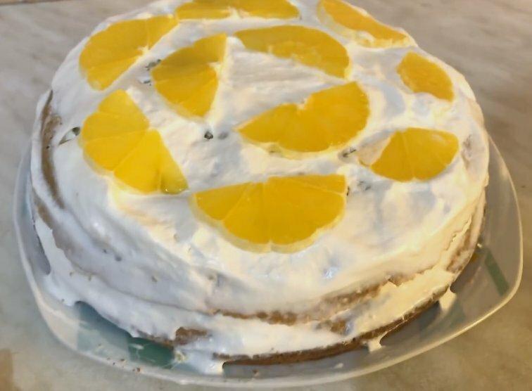 Торт с апельсинами. Рецепт для ленивых