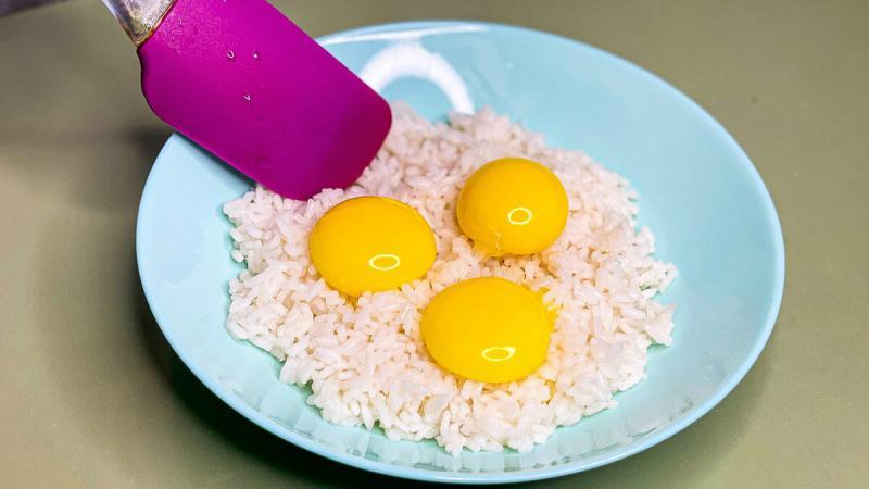 Вчерашний рис не выбрасываю, а готовлю кое-что очень вкусное
