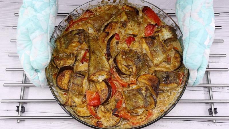Вкуснее рыбы я не ела. Сочный минтай с овощами.