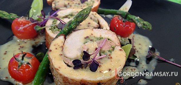 Баллотин из курицы с горчичным соусом - рецепт Гордона Рамзи