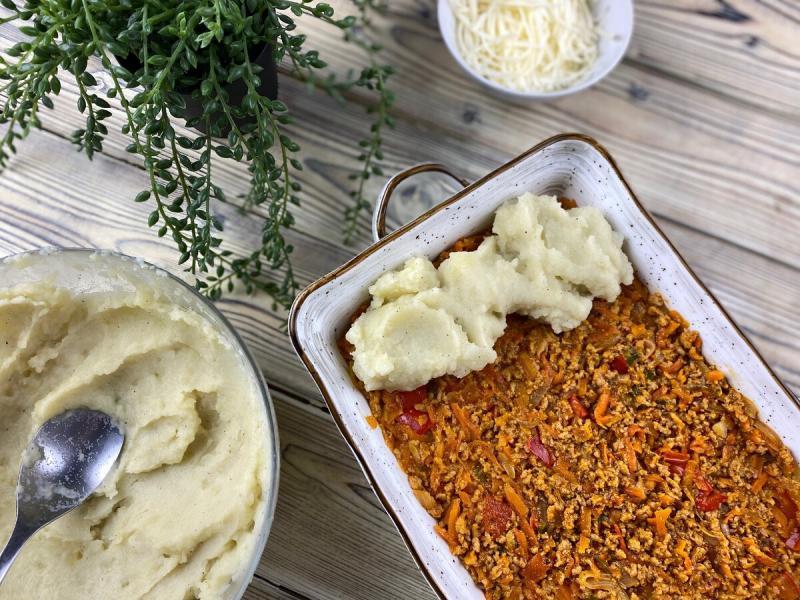 Картофельный пирог с фаршем: сытный, вкусный, по-вегану