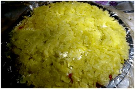 Салат «Рябинка», вкуснее которого я еще не пробовала.