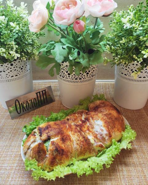 Сочный и нежный рулет из курицы с овощами. Худеем вкусно и сытно.