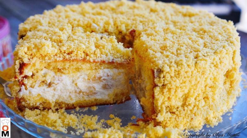 Вкусный и нежный банановый торт
