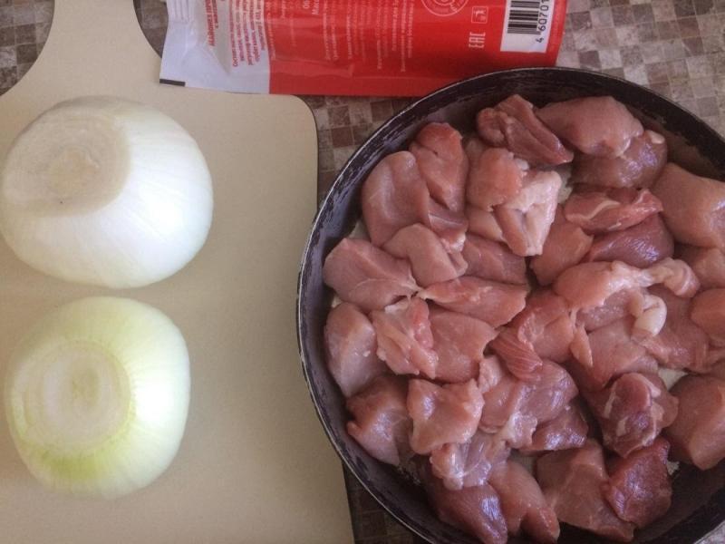 Мясо под майонезом за 5 минут