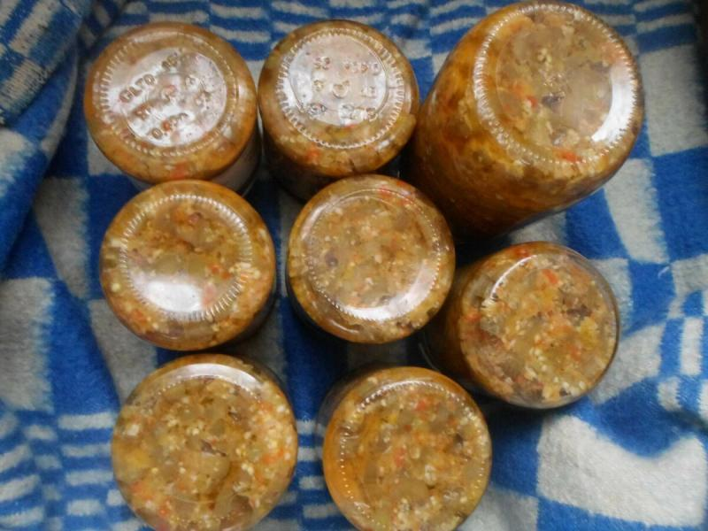 Баклажаны остренькие на зиму. Любимый рецепт