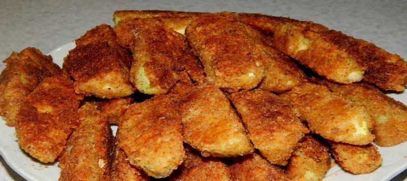 Кабачки в хрустящей панировке на сковороде. Просто и вкусно