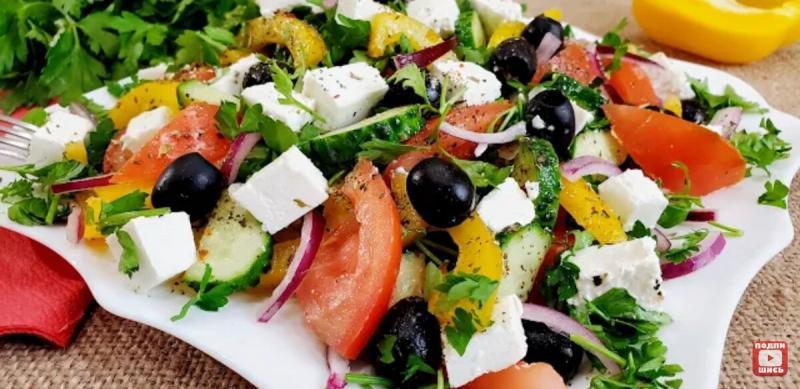 Салат греческий. Несколько секретиков приготовления
