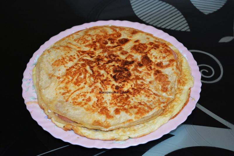 Горячий завтрак за 15 минут из лаваша, на сковороде