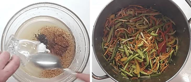 Хрустящий САЛАТ НА ЗИМУ по-корейски: огурцы, кабачки и морковь