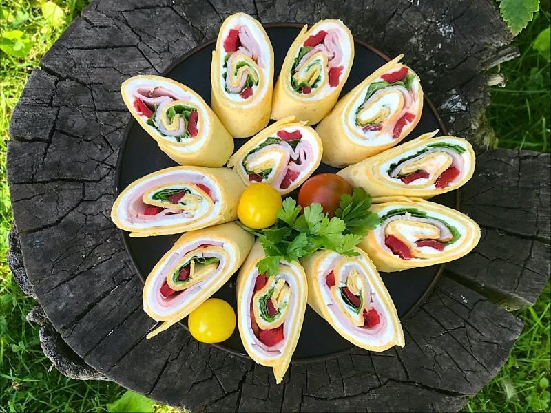 Яркая закуска для праздничного стола или для перекуса