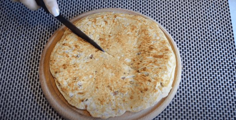 Мгновенная сырная лепёшка к завтраку или на перекус