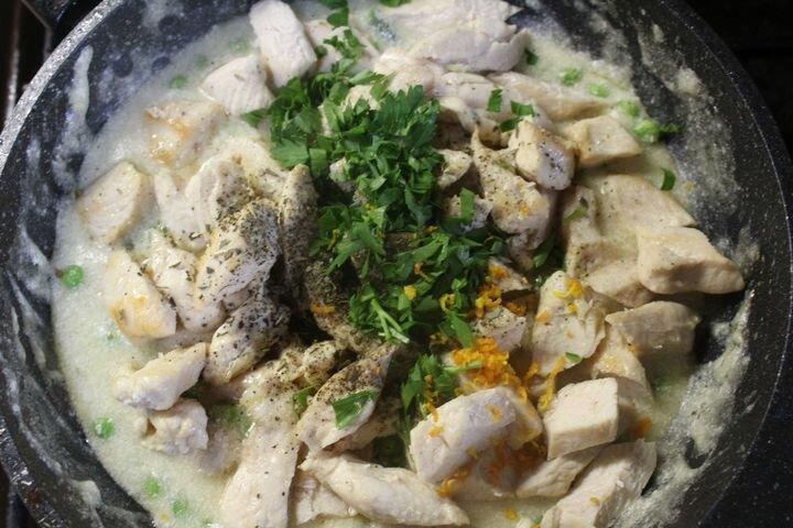 Пирог из слоеного теста с курицей и овощами. Пошаговый рецепт!