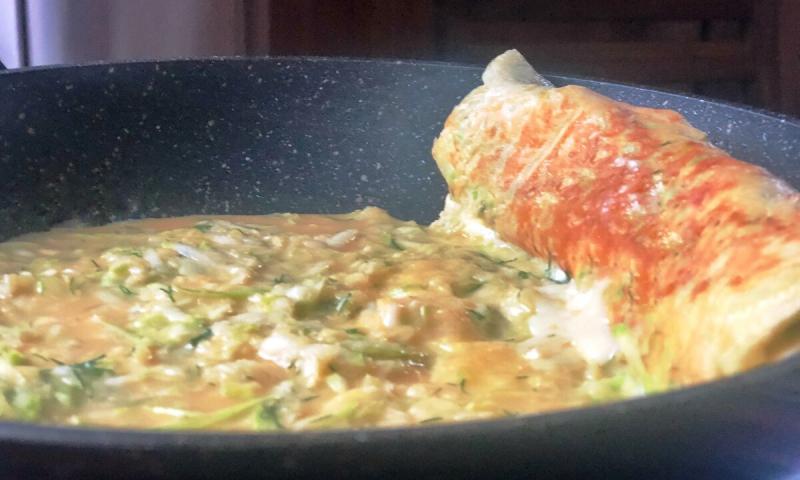 Рулет из кабачков, очень вкусный и простой рецепт