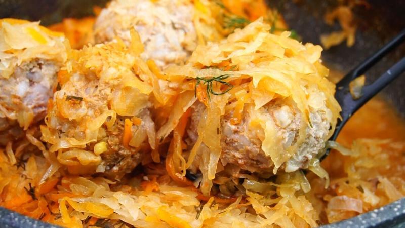 Тефтели с капустой (иде для обеда или ужина)