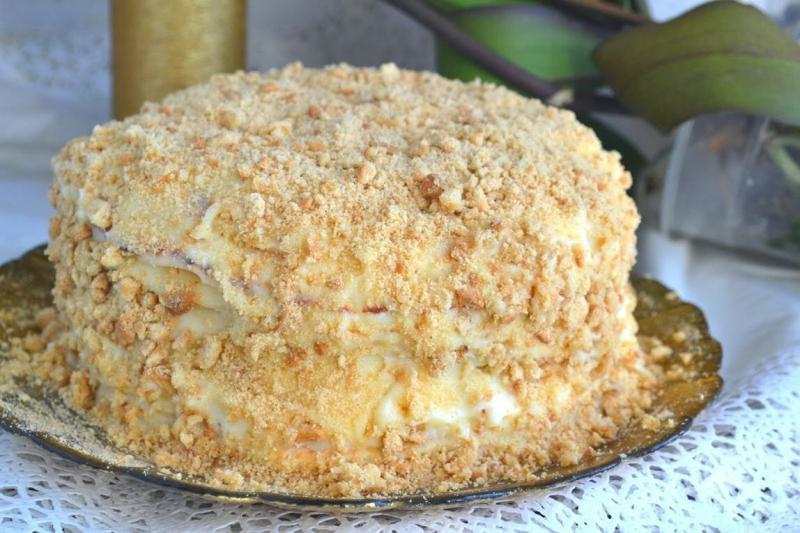 Торт на сковороде за 30 минут