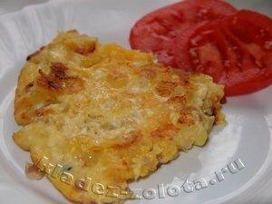 Тортилья с картофелем и беконом