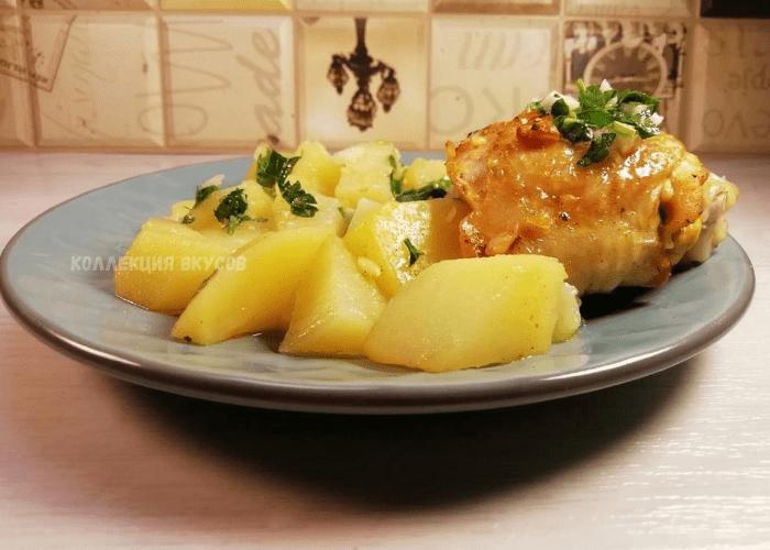 Ужин из курицы и картошки — вкусно, сытно и без хлопот
