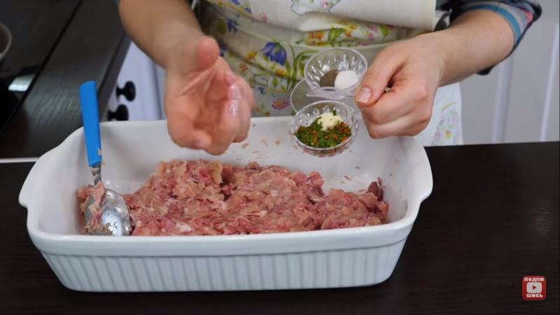 Заливной пирог с зеленым луком и мясом