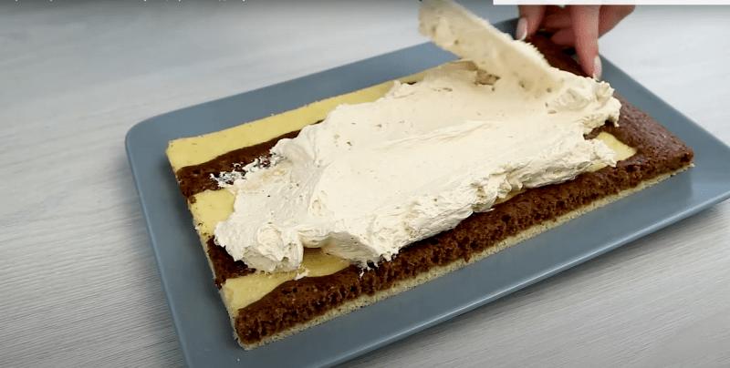 Быстрый торт «Полосатик»