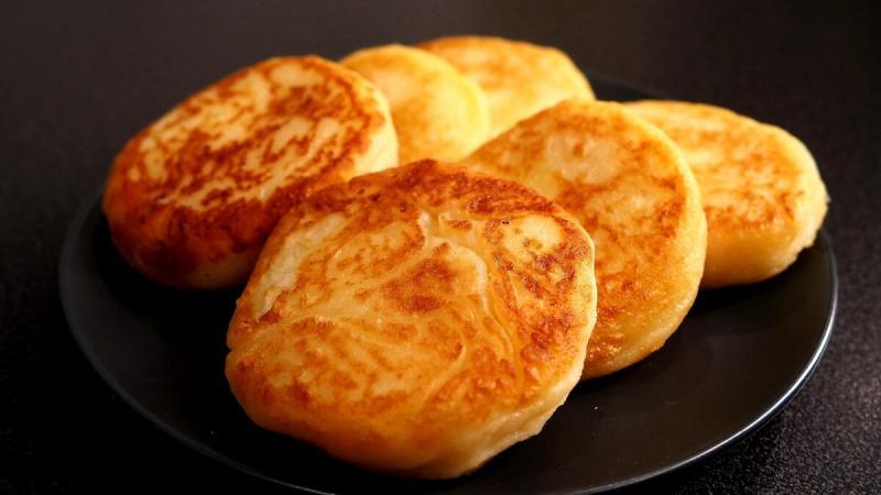 Картофельные оладьи с сыром   Пышные и очень нежные