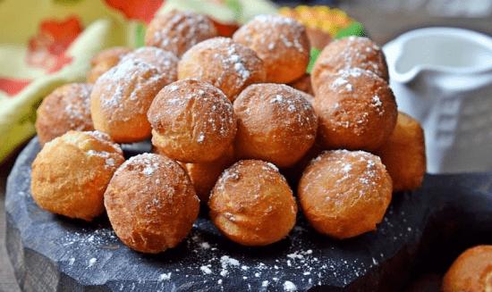 Пончики на сгущёнке - быстро и вкусно