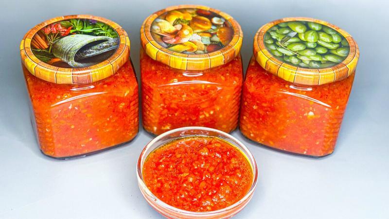 Рецепт лучшей аджики: кетчуп и соусы зимой не покупаю