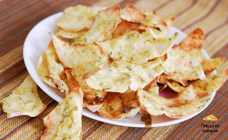 Готовим домашние чипсы со сметаной и сыром БЕЗ МАСЛА