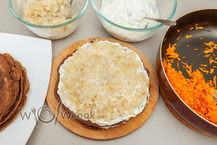Печеночный торт из куриной печени - ну очень вкусный и необычный рецепт с фото