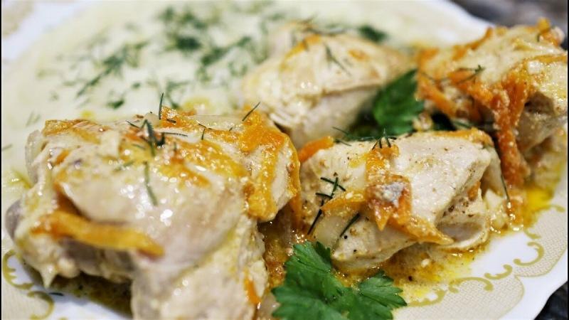 Видео рецепт. Курица тушёная в этом соусе, получается очень мягкой и вкусной