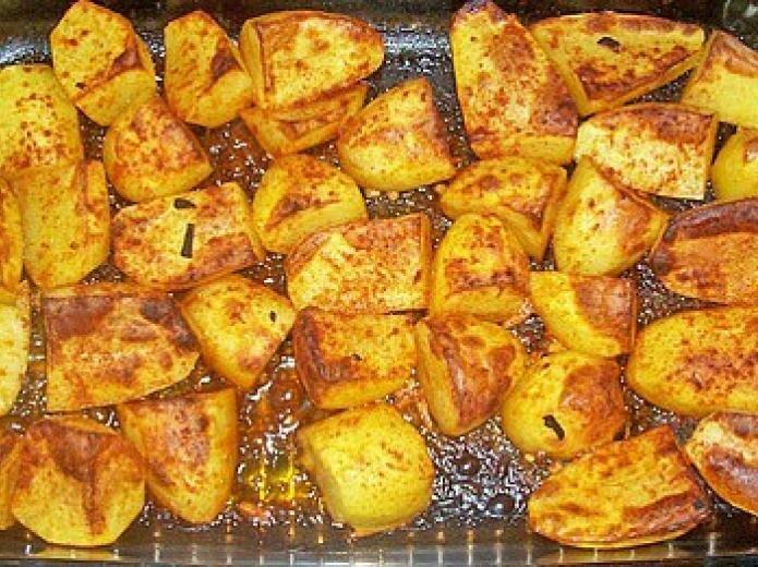 Запекаем картофель по-гречески (мой любимый гарнир)