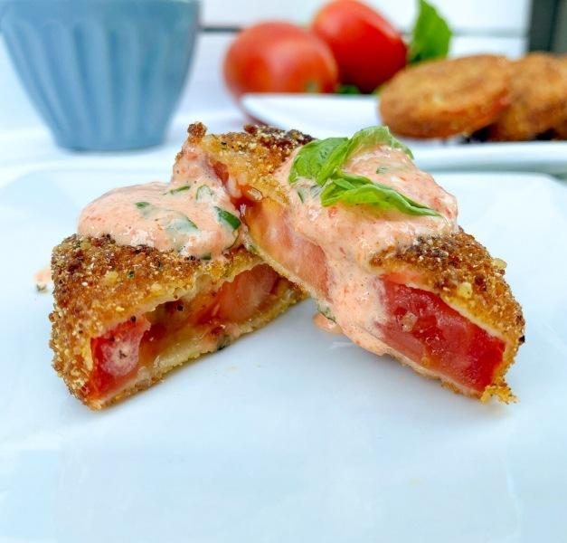 Жареные помидоры в хрустящей панировке