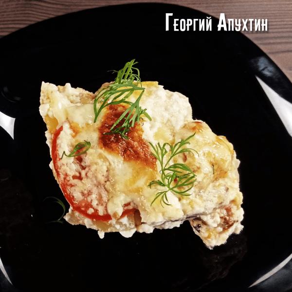 Куриное филе с грибами по-французски. Пошаговый рецепт.
