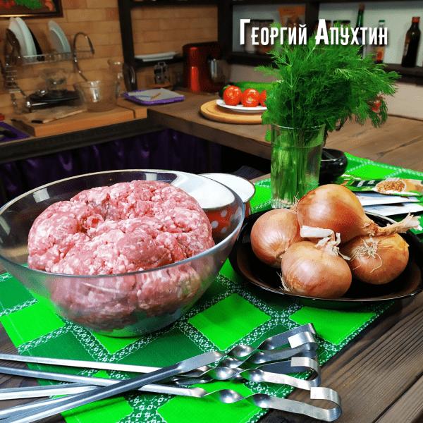Люля-кебаб в духовке. Пошаговый рецепт.