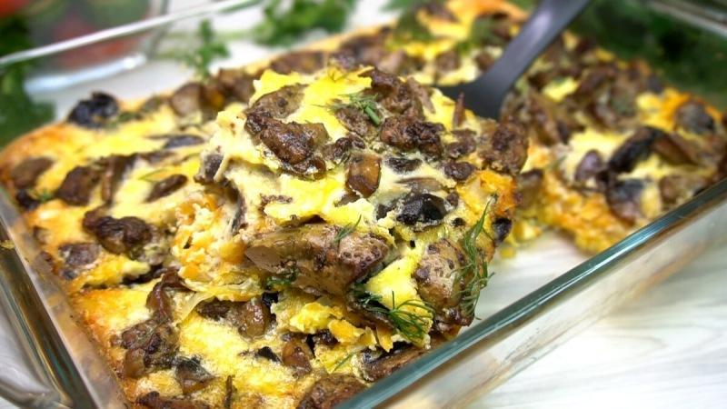 Печенка в омлете или как приготовить печень, чтобы она была нежной.