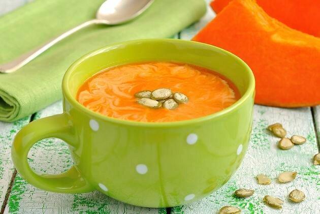 Рецепты: суп из тыквы «Янтарный»