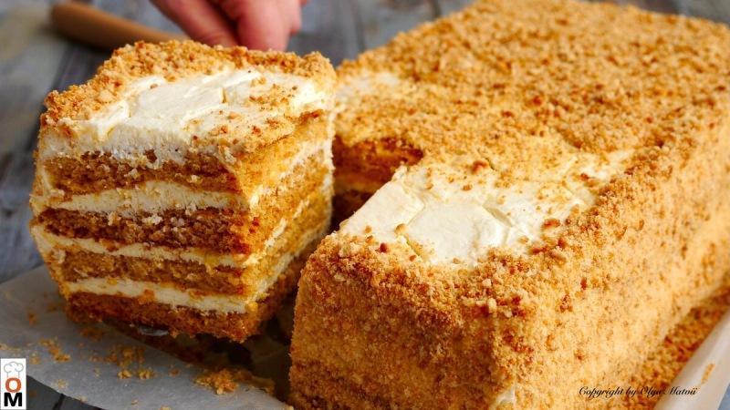 """Торт """"Медовик"""" за 30 минут без лишних заморочек"""