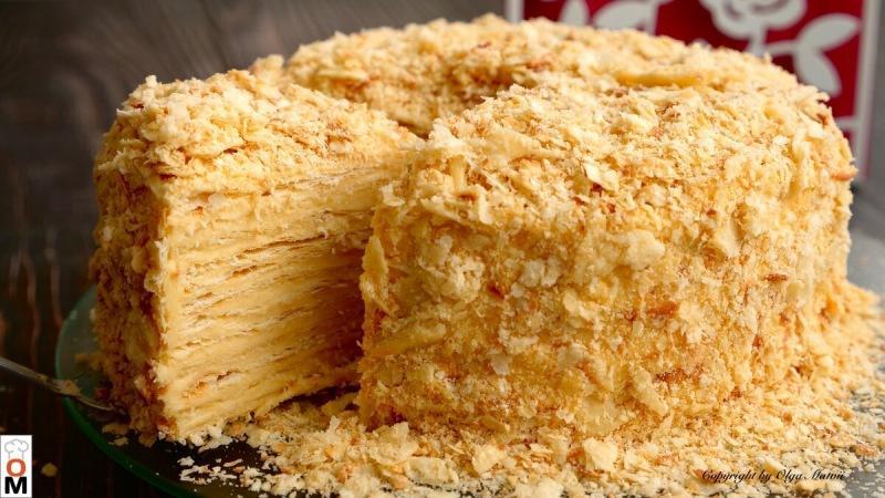 """Торт """"Наполеон"""" с очень вкусными коржами"""