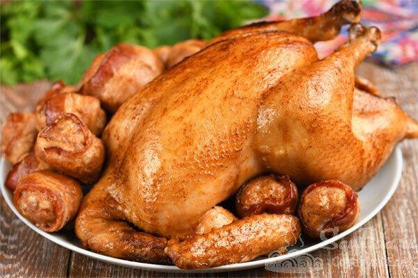Курица целиком в ароматном маринаде (рецепт с фото)