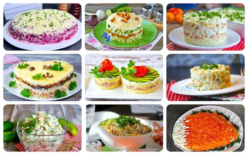 Подборка моих любимых салатов для новогоднего стола