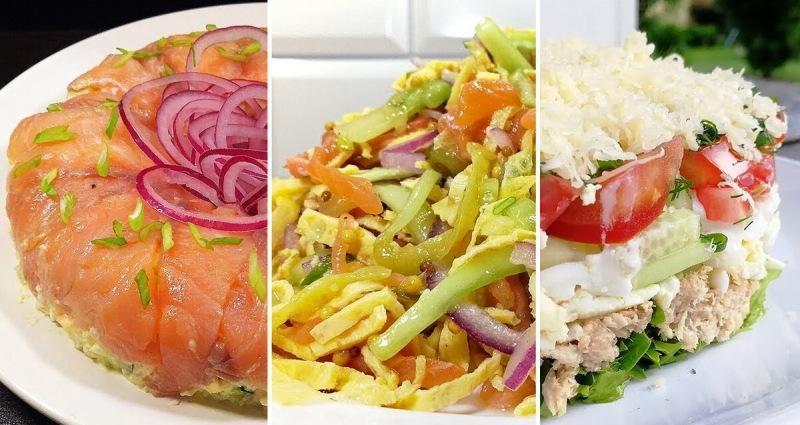 Подборка рыбных салатов с праздничным настроением!