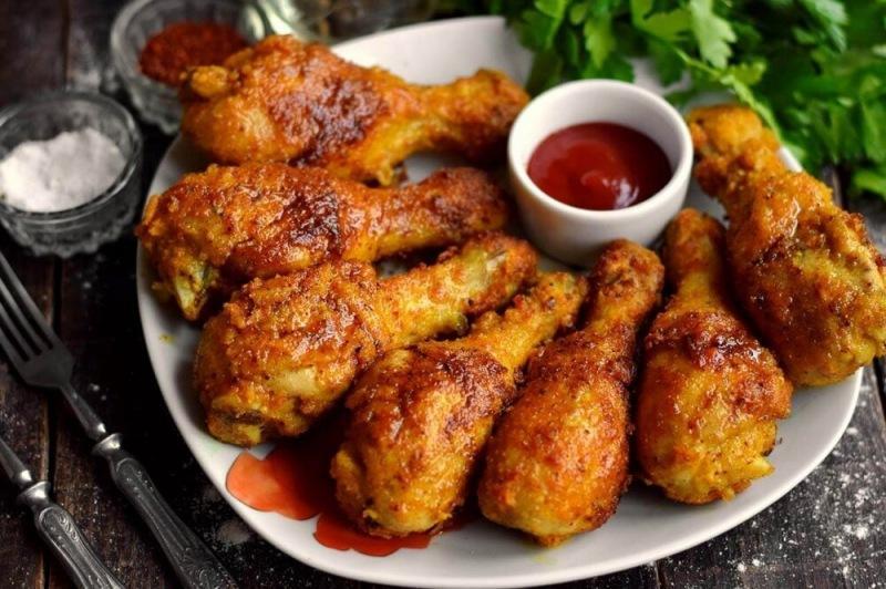 Хрустящие куриные ножки на сковороде